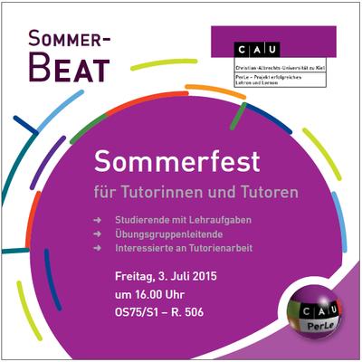 Sommerfest 2015 Flyer Bild