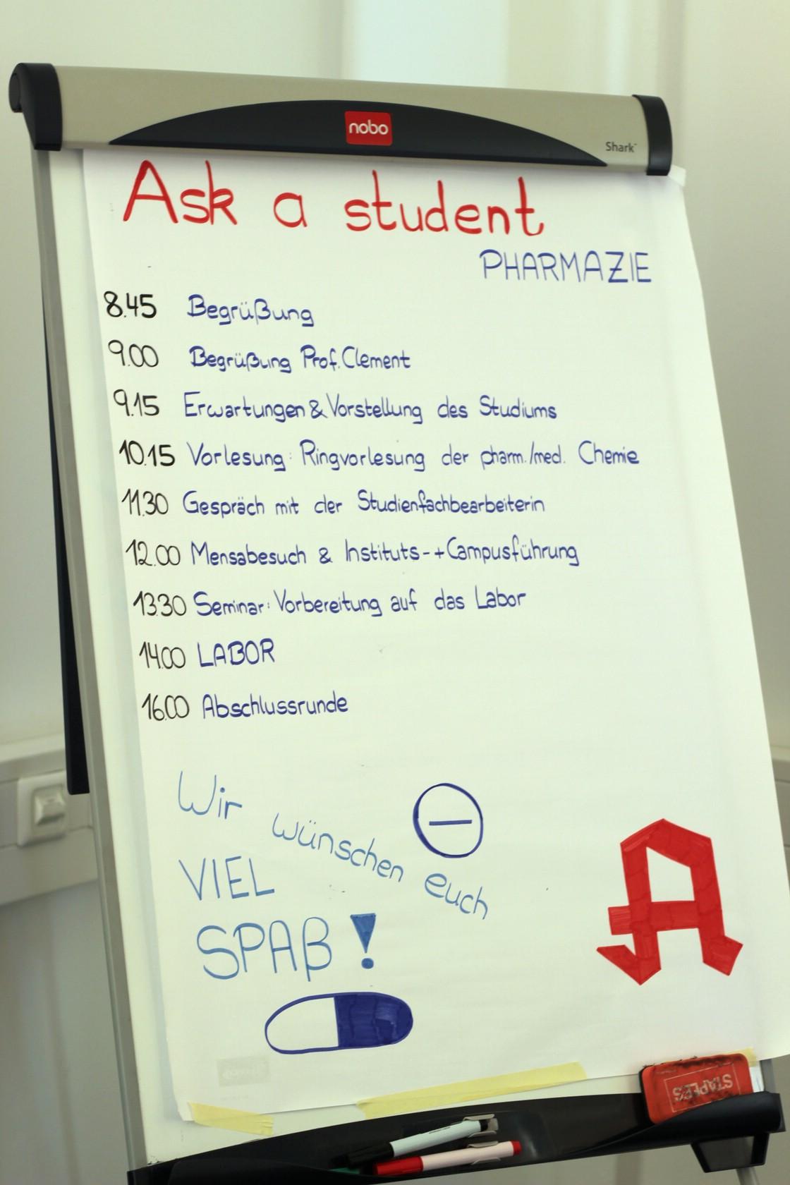 Ask a student - Pharmazie Ablauf 1/1 (Foto: Ramona Dabringer)