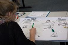 Schülerin beim Workshop
