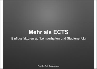 Schulmeister - Mehr als ECTS (PDF)