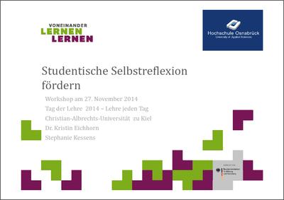 Kessens / Wittemann / Eichhorn - Studentische Selbstreflektion (PDF)