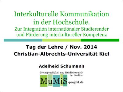 Schumann - Interkulturelle Kommunikation (PDF)